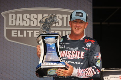Bryan Schmitt, of Deale, Md., has won the 2021 Guaranteed Rate Bassmaster Elite at Lake Champlain with a four-day total of 78 pounds, 5 ounces.