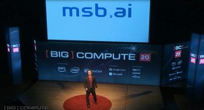 MSBAI's CEO, Allan Grosvenor, keynote at Big Compute, San Francisco, Feb. 2020