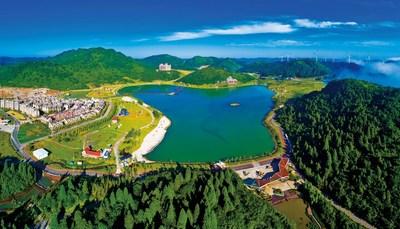Nantian Lake tourist resort in Fengdu County