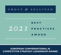 2021 European Conversational AI Competitive Strategy Leadership Award (PRNewsfoto/Frost & Sullivan)
