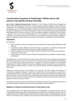 Transformative Acquisition of TotalEnergies' Affiliate with an 18% Interest in Sarsang PSC and New Financings (CNW Group/ShaMaran Petroleum Corp.)
