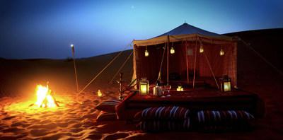 Overnight desert camp in Qatar