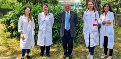 The first patient has been treated in the KIDCARES10 clinical trial at a site located at the Dipartimento di Scienze Mediche Traslazionali Università Federico II in Napoli, Italy. Shown in photo, left to right: Dr. E. Toriello, Dr. G. Giardino, Prof. C. Pignata, Dr. E. Cirillo, Dr. R. Prencipe