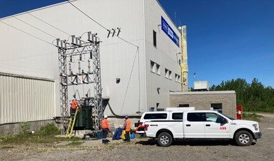 Figure 2. ABB employees performing maintenance on power supply systems (CNW Group/First Cobalt Corp.)