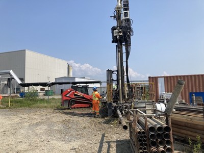 Figure 1. Boart Longyear drillers collect geotechnical data for design of the solvent extraction plant (CNW Group/First Cobalt Corp.)