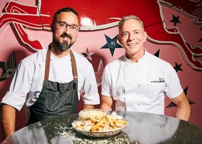 Chef Frederick Schoen-Kiewert, Corporate Executive Chef of Serendipity3 and Chef Joe Calderone, Creative Director of Serendipity3.