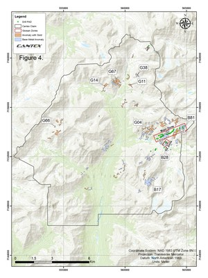 Figure 4. North Rackla Regional Anomalies (CNW Group/Cantex Mine Development Corp.)