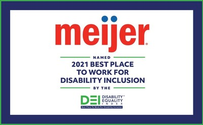Meijer was named a 2021 Best Place to Work for Disability Inclusion for the fifth straight year, demonstrating its ongoing commitment to championing a culture of dignity and respect for its team members.