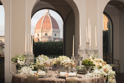 While visiting Four Seasons Hotel Firenze, the Hotel can arrange dinner in a palazzo, complete with a spectacular view of the Duomo.