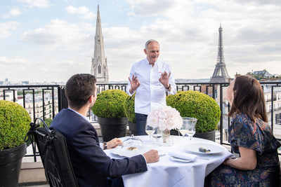 Savour the very best of French haute cuisine while dining under starry skies at Four Seasons Hotel George V, Paris.