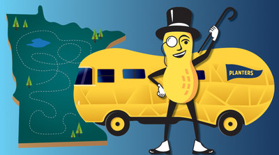 The MR. PEANUT® character is packing his bags and preparing for his big move to his new home at Hormel Foods in Minnesota. To shellebrate his move to the land of 10,000 lakes, the legume is giving away 10 checks worth $10,000 each to reward Little Acts of Substance in his new home state this summer.
