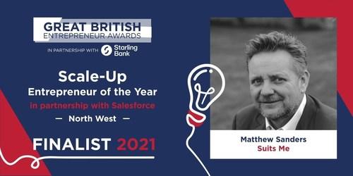 Great British Entrepreneur Award Finalist, Matthew Sanders