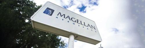 Exterior of Magellan Aerospace plant in Winnipeg, Manitoba. (CNW Group/Unifor)
