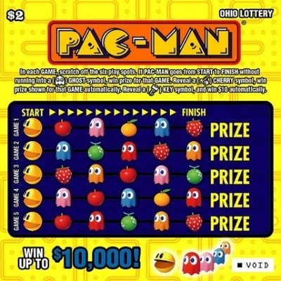 Ohio Lottery's $2 PAC-MAN® scratch-off (CNW Group/Pollard Banknote Limited)
