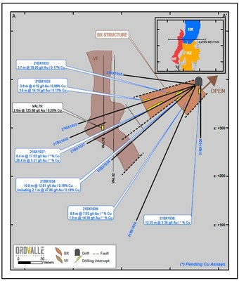 Figure 2. East Breccia (BX) Section (CNW Group/Orvana Minerals Corp.)