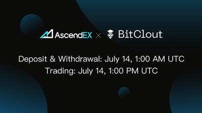 BitClout lista na AscendEX, crescimento contínuo incrível (PRNewsfoto/AscendEX)