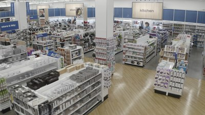 Interior of a newly designed Bed Bath & Beyond store that provides customers with a modern shopping experience. (PRNewsfoto/Bed Bath & Beyond Inc.)