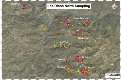 Figure 6: Los Ricos North – Location Map (CNW Group/GoGold Resources Inc.)