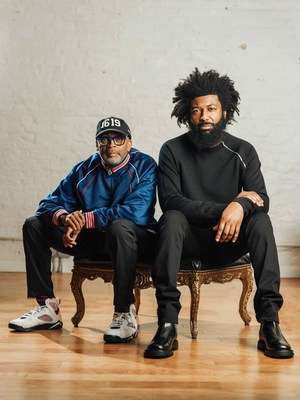 """Amondo Redmond, Global Chief Marketing Officer of Coin Cloud, pictured with Oscar-winning filmmaker and director and star of the company's """"The Currency of Currency"""" TV commercial, Spike Lee."""