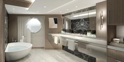 Vista Suite Bathroom, Courtesy of Oceania Cruises