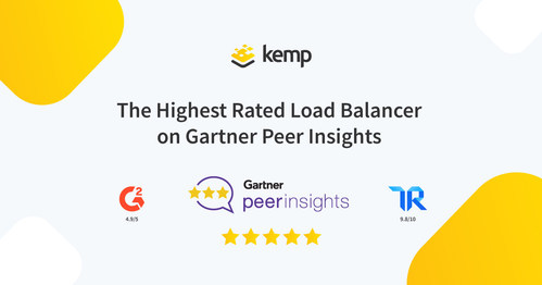 Kemp LoadMaster dominates the ADC category on Gartner Peer Insights