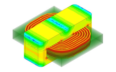 Ansys Electronics Desktop Student Maxwell: Transformer simulation using Ansys Maxwell, which is a product accessible in the new Ansys Electronics Desktop Student free download.