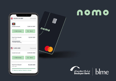 Nomo – new bank application, logo and card (PRNewsfoto/Boubyan Bank)