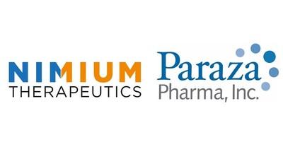 NIMIUM Therapeutics and Paraza Pharma Inc. logos (CNW Group/Paraza Pharma Inc.)