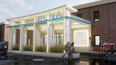 ELNA Médical au Centre Rockland - Entrée extérieure (Groupe CNW/ELNA Medical)