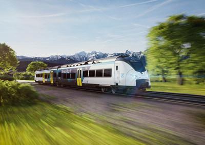 Mireo Plus H fuel cell-powered passenger train (CNW Group/Ballard Power Systems Inc.)