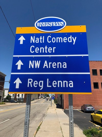 ID Signsystems created vibrant wayfinding signage for the City of Jamestown, New York