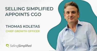 Selling Simplified anuncia Thomas Koletas como diretor de desenvolvimento.