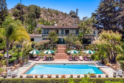 Sprawling Los Angeles compound of Director Taylor Hackford and Actor Helen Mirren listed by Joyce Rey and Stephen Apelian with Coldwell Banker Realty for $18,500,000 or $45,000 per month lease. (Photo by Marc Angeles)