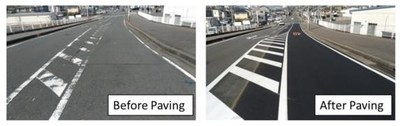 City roads with NEWTLAC 5000, expected to maintain better and longer visibility of lane markings
