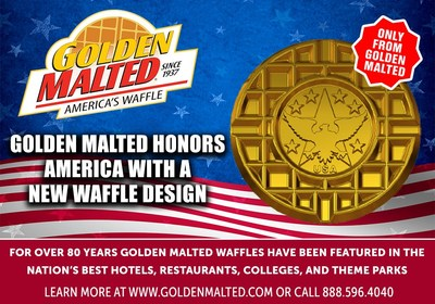 Golden Malted Honors America With A New Waffle Design