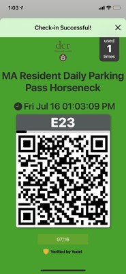 The Massachusetts Department of Conservation and Recreation is using Yodel Pass to streamline parking and pass management at its parks.
