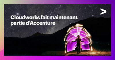 Accenture accroît les capacités d'Oracle au Canada avec l'acquisition de Cloudworks (Groupe CNW/Accenture)