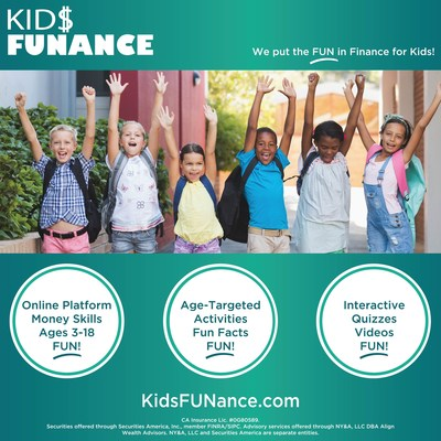 KidsFUNance.com is a new online tool offered by Align Wealth Advisors to increase children's financial literacy. Debt statistics for young Americans are worrying, to say the least, and financial literacy education in schools is practically non-existent. KidsFUNance.com aims to bridge that gap in a fun, interactive way, providing kids with a knowledge base they can use their entire lives.