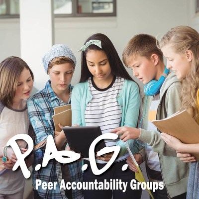 Join a PAG! By joining one of our Peer Accountability Groups, our students are able to work together to achieve their saving and earning goals. They compete for prizes and learn that two heads are sometimes better than one when it comes to money.