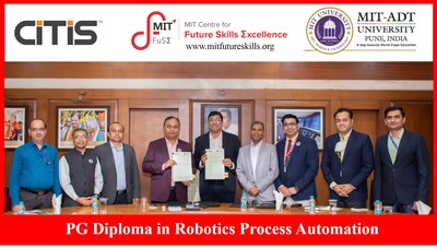 MIT Centre for Future Skills Excellence introduces PG Diploma in Robotics Process Automation for Career aspirants (PRNewsfoto/MIT ADT University)