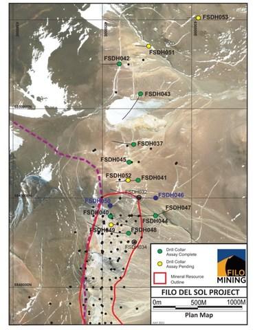 Filo del Sol Base Map Satellite Image, July 19, 2021 (CNW Group/Filo Mining Corp.)
