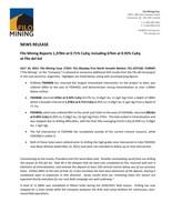 Filo Mining Reports 1,378m at 0.71% CuEq; including 676m at 0.92% CuEq at Filo del Sol (CNW Group/Filo Mining Corp.)