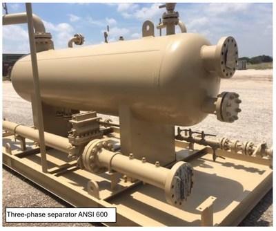 Three-phase separator ANSI 600 (CNW Group/NG Energy International Corp.)