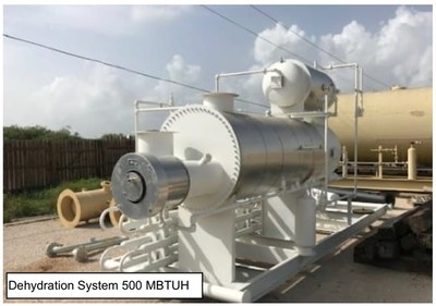 Dehydration System 500 MBTUH (CNW Group/NG Energy International Corp.)