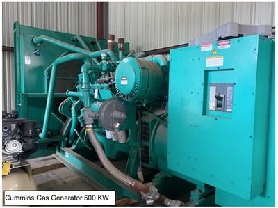 Cummins Gas Generato 500 KW (CNW Group/NG Energy International Corp.)