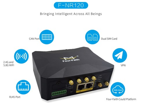 Four-Faith Compact Size 5G Industrial Routers.