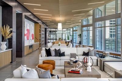Amenity Floor by One Line Design Studio at Atelier, Dallas