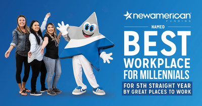 New American Funding is Named a Best Workplace for Millennials by Great Places to Work