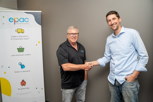 Left, ePac CMO, Carl Joachim; Right, Co-founder, and CEO of Scantrust SA, Nathan J. Anderson