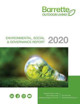 Barrette Outdoor Living — 2020 Environmental, Social and Governance Report